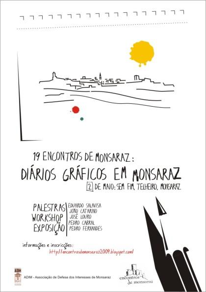 """Cartaz """"Diários Gráficos em Monsaraz"""""""
